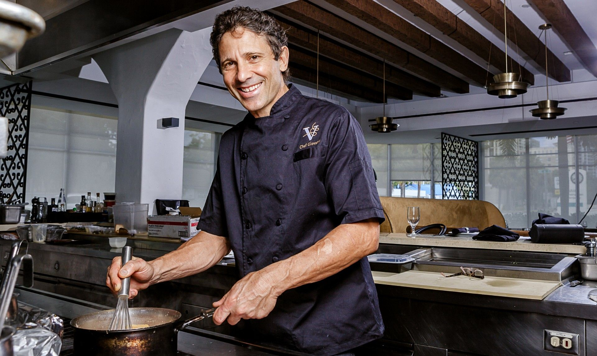 Picture of Chef Giovanni Rocchio of Valentino Cucina Italiana in Fort Lauderdale, Florida.