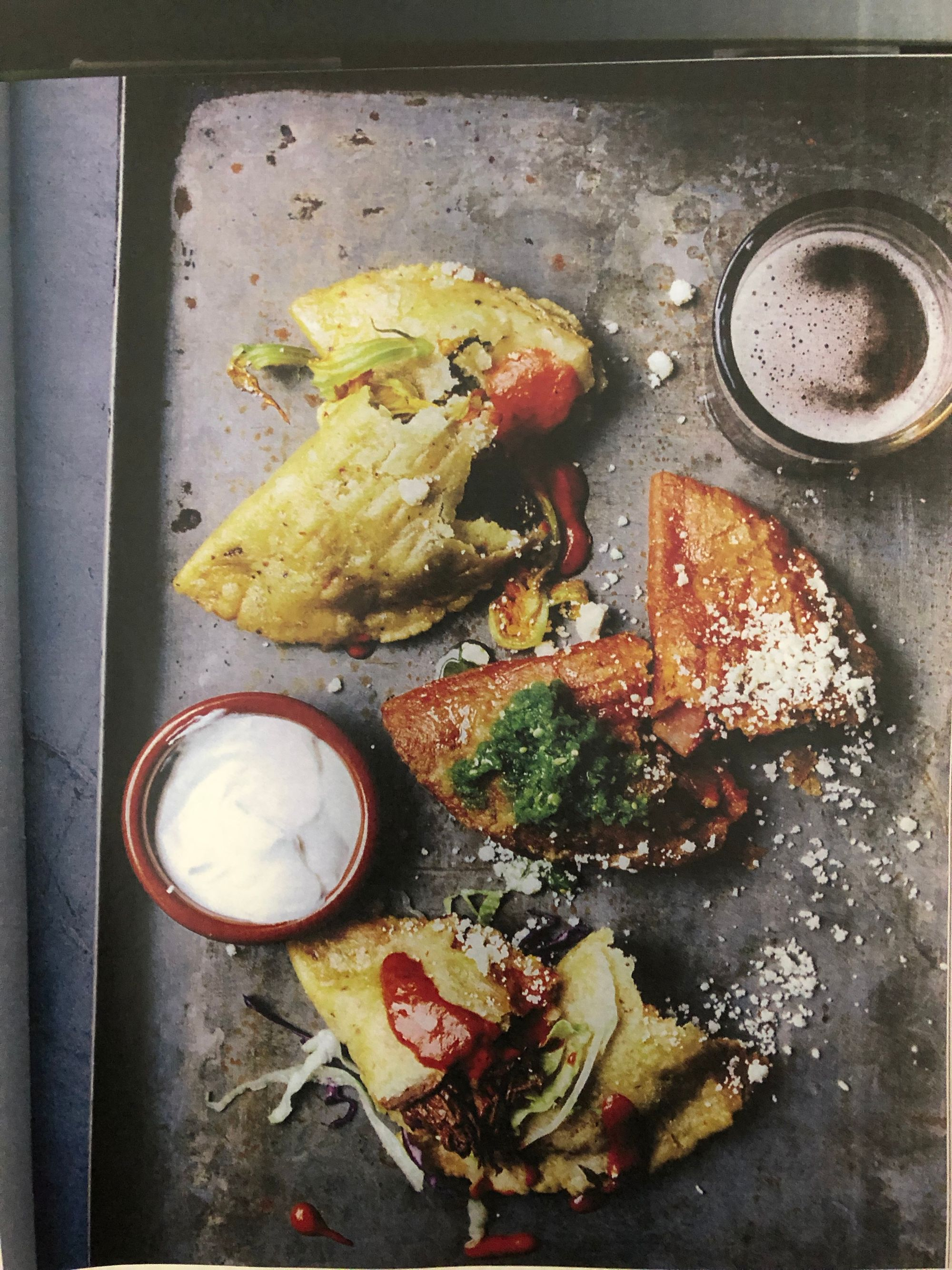Picture of Fried Empanadas with squash blossoms